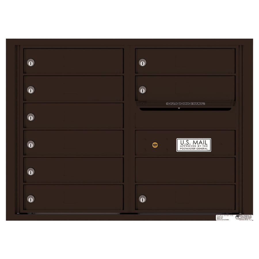 Florence Versatile 17.5-in x 23.25-in Metal Dark Bronze Lockable Cluster Mount Cluster Mailbox