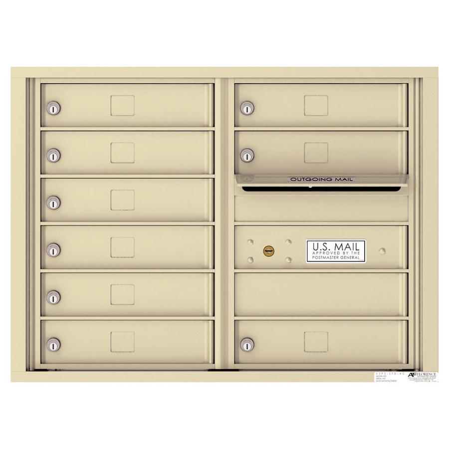 Florence Versatile 17.5-in x 23.25-in Metal Sandstone Lockable Cluster Mount Cluster Mailbox