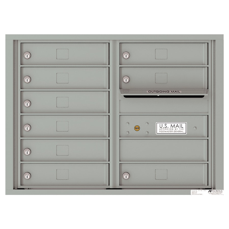 Florence Versatile 17.5-in x 23.25-in Metal Silver Speck Lockable Cluster Mount Cluster Mailbox