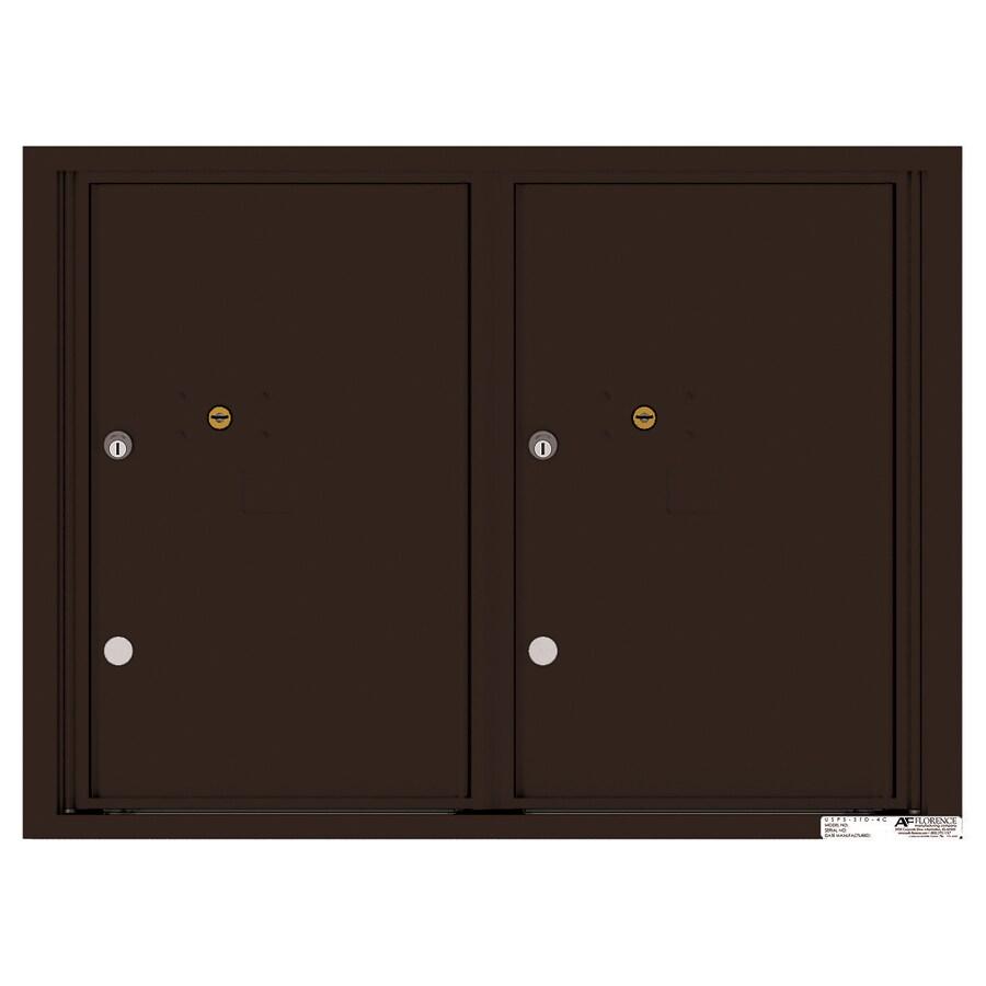 Florence Versatile 31.56-in x 23.25-in Metal Dark Bronze Lockable Cluster Mount Cluster Mailbox
