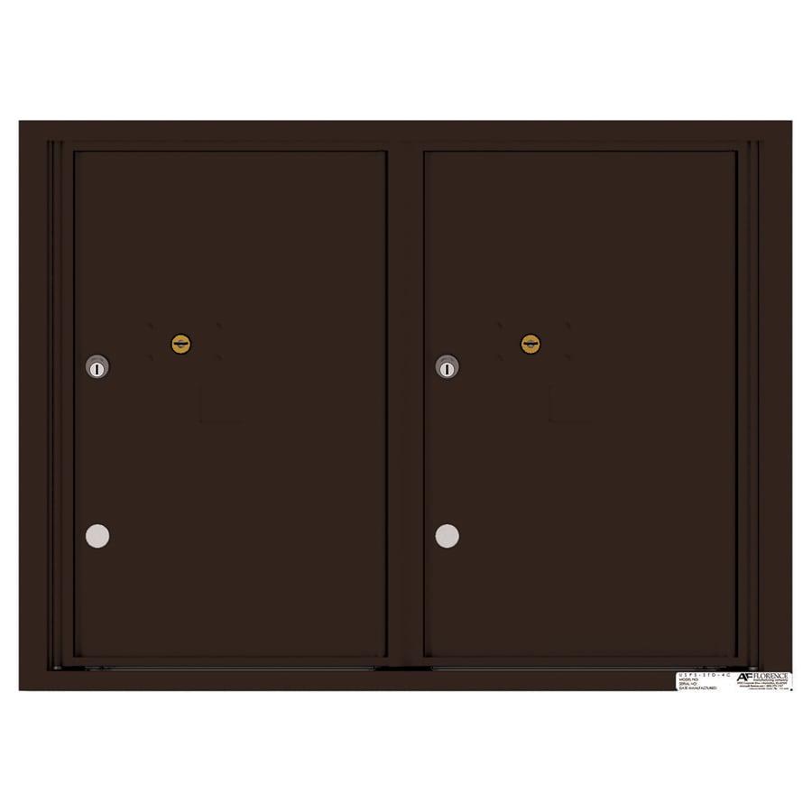 Florence Versatile 31.56-in W x 23.25-in H Metal Dark Bronze Lockable Cluster Mount Cluster Mailbox