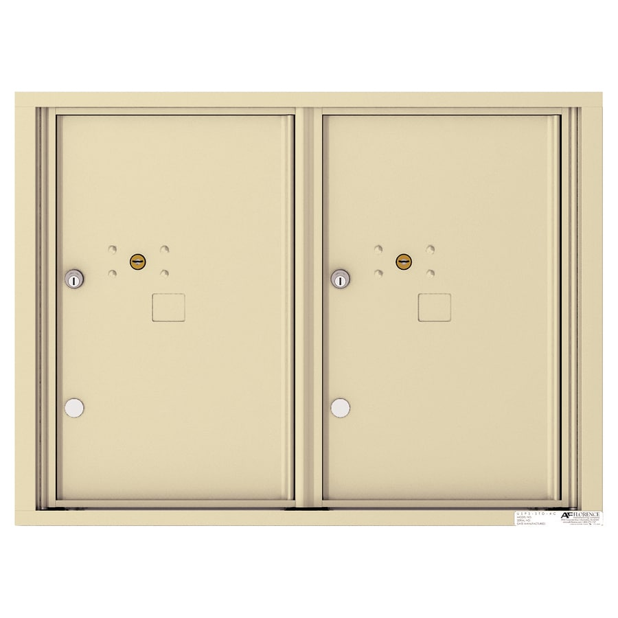 Florence Versatile 31.56-in W x 23.25-in H Metal Sandstone Lockable Cluster Mount Cluster Mailbox