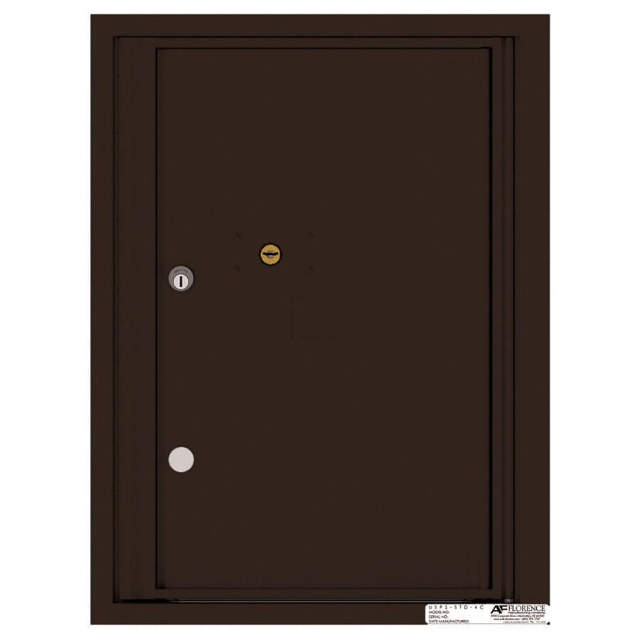 Florence Versatile 17.5-in x 23.25-in Metal Dark Bronze Lockable Cluster Mount Cluster Mailbox