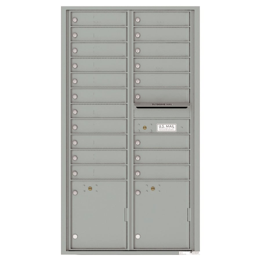 Florence Versatile 31.56-in W x 56.5-in H Metal Silver Speck Lockable Cluster Mount Cluster Mailbox