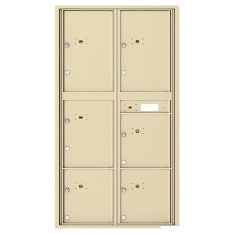 Florence Versatile 31.56-in W x 56.5-in H Metal Sandstone Lockable Cluster Mount Cluster Mailbox