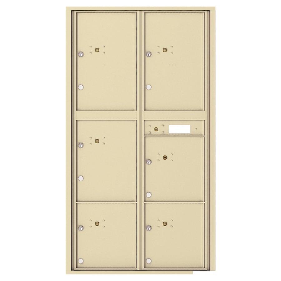 Florence Versatile 31.56-in x 56.5-in Metal Sandstone Lockable Cluster Mount Cluster Mailbox