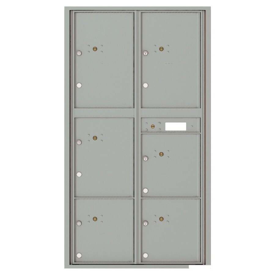 Florence Versatile 31.56-in x 56.5-in Metal Silver Speck Lockable Cluster Mount Cluster Mailbox