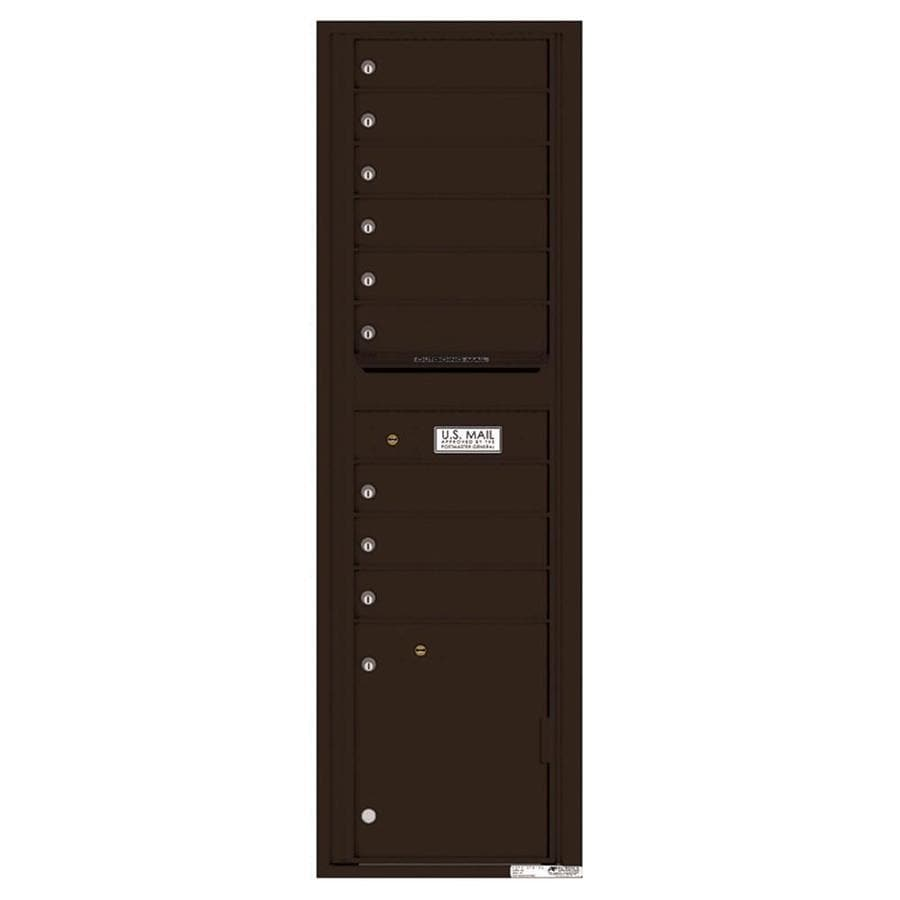 Florence Versatile 17.5-in x 56.5-in Metal Dark Bronze Lockable Cluster Mount Cluster Mailbox