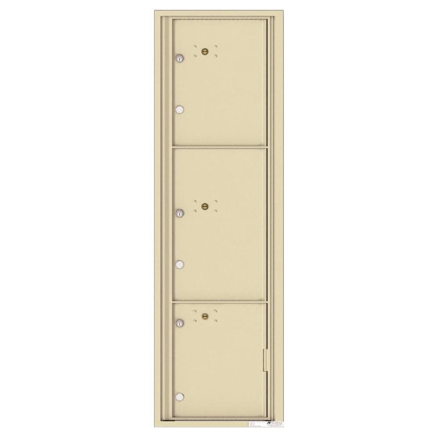 Florence Versatile 17.5-in W x 56.5-in H Metal Sandstone Lockable Cluster Mount Cluster Mailbox