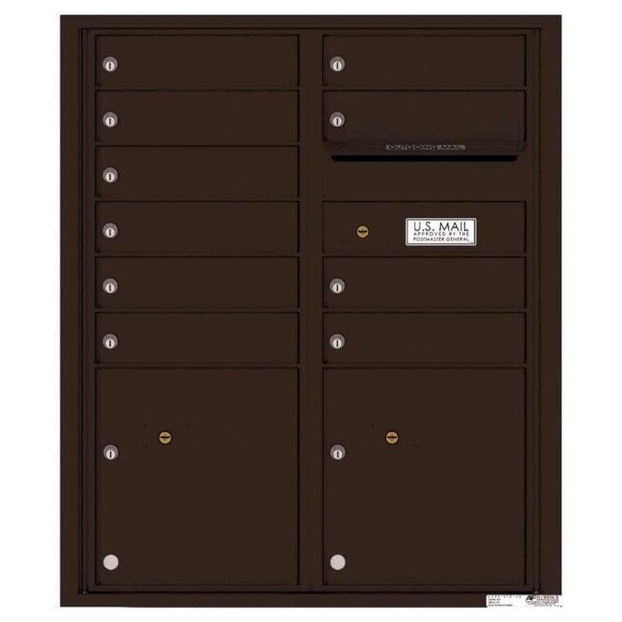 Florence Versatile 31.56-in x 37.25-in Metal Dark Bronze Lockable Cluster Mount Cluster Mailbox