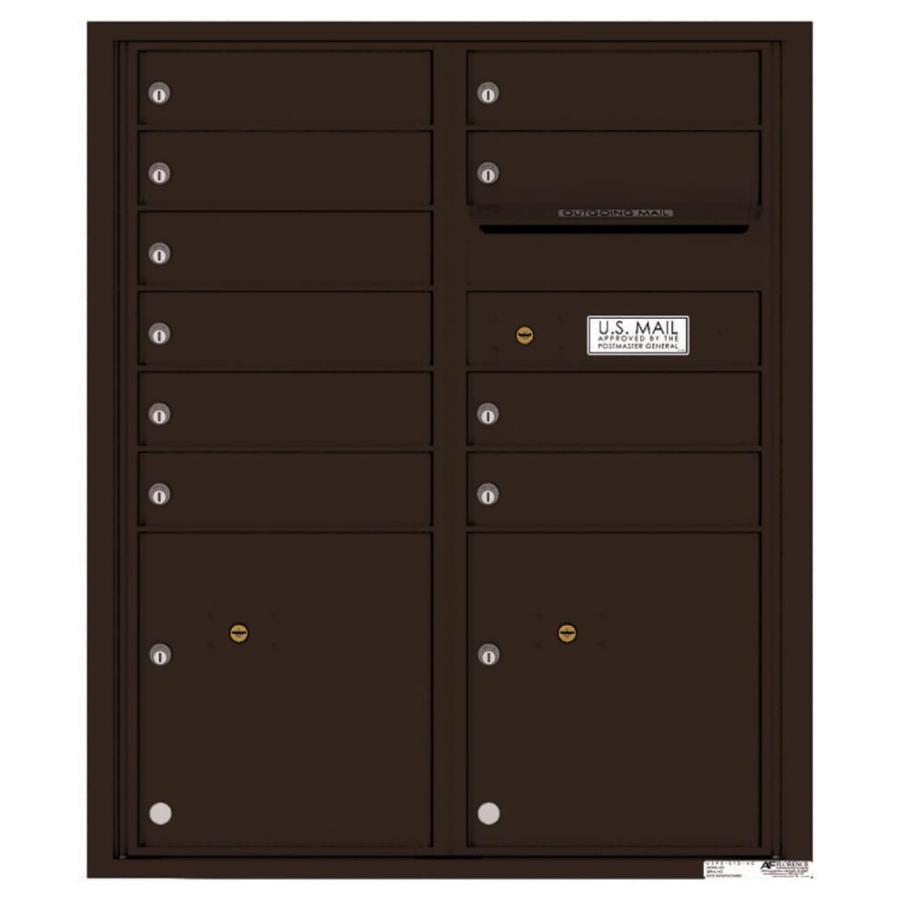 Florence Versatile 31.56-in W x 37.25-in H Metal Dark Bronze Lockable Cluster Mount Cluster Mailbox