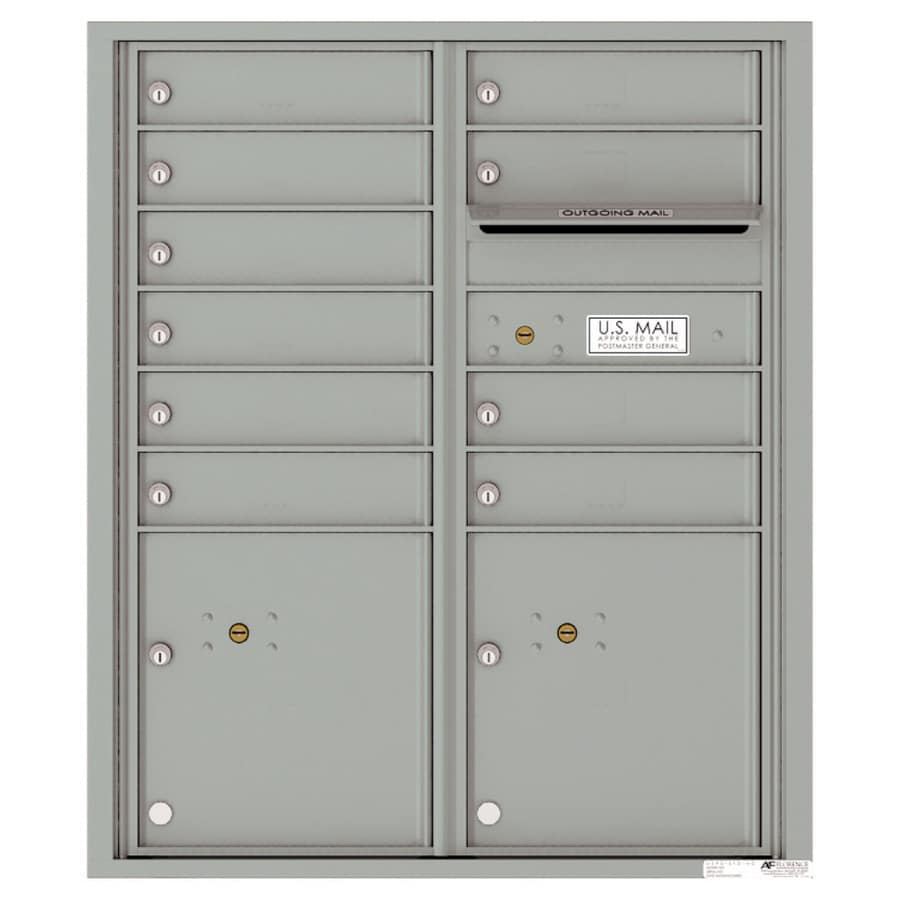 Florence Versatile 31.56-in x 37.25-in Metal Silver Speck Lockable Cluster Mount Cluster Mailbox