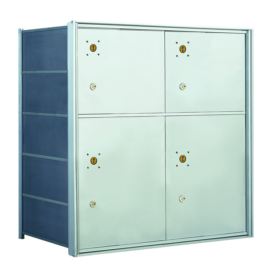 Florence 1400 Series 27.3-in x 28-in Metal Anodized Aluminum Lockable Recessed Mount Cluster Mailbox