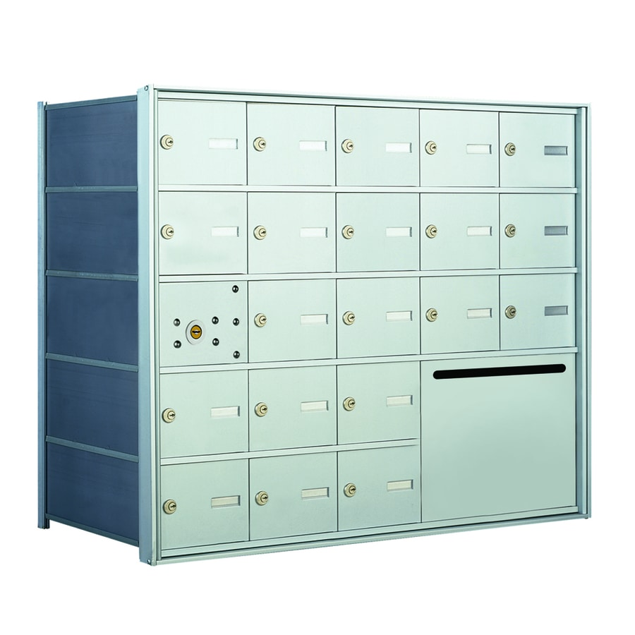 Florence 1400 33.6-in W x 28-in H Metal Anodized Aluminum Lockable Recessed Mount Cluster Mailbox