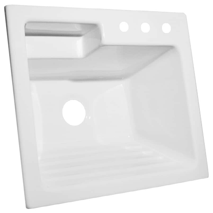 Corstone White Acrylic Self Laundry Sink