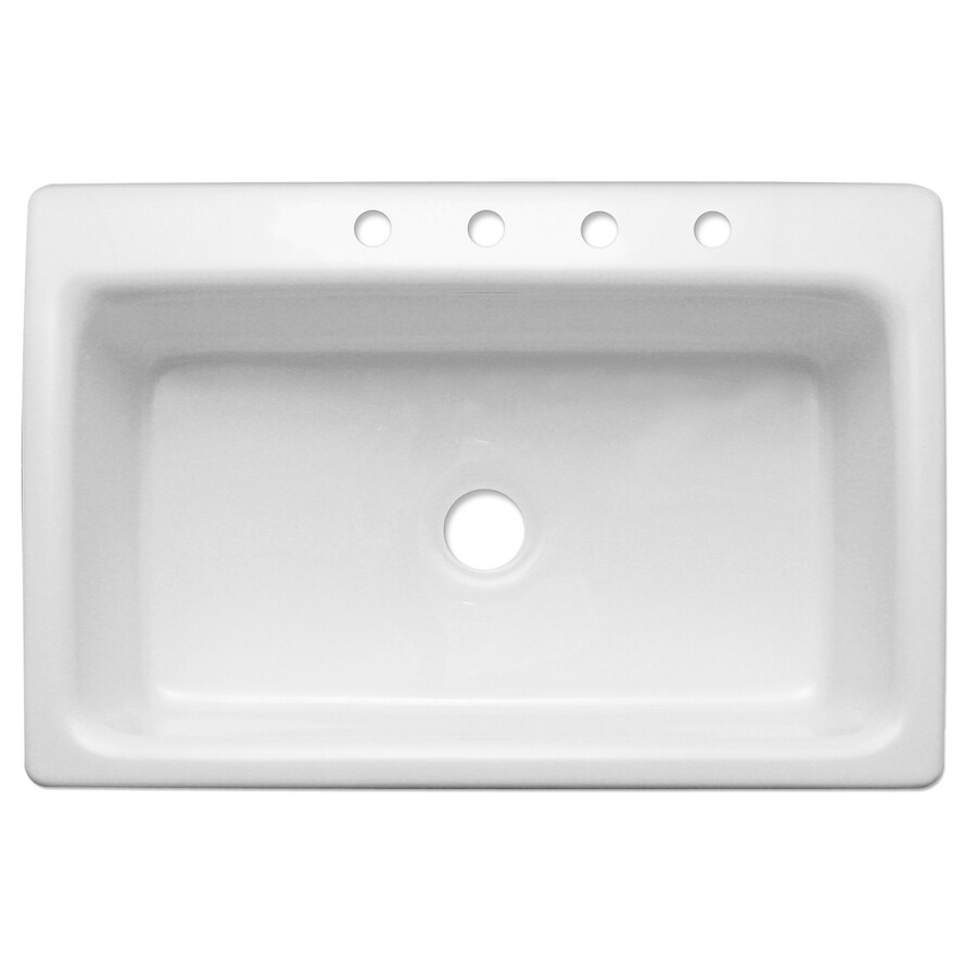 CorStone Coventry Single-Basin Drop-in Acrylic Kitchen Sink