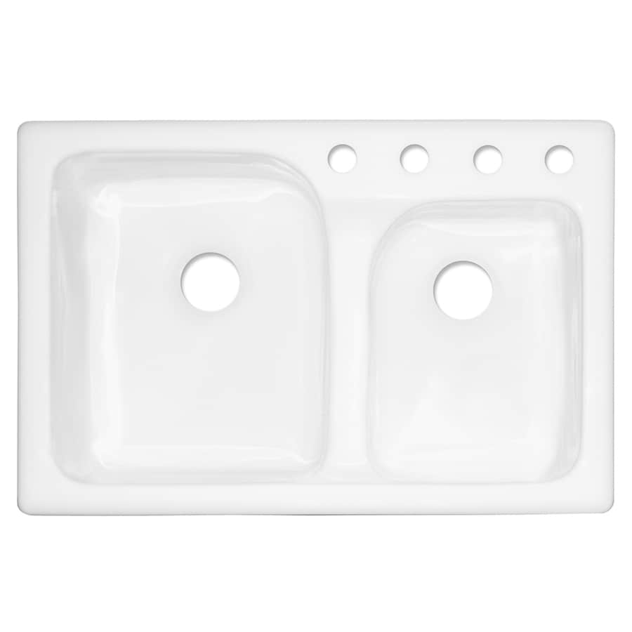 Delicieux CorStone Providence Double Basin Drop In Acrylic Kitchen Sink