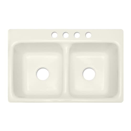 Corstone Greenwich Gloss Biscuit Double Basin Acrylic Drop
