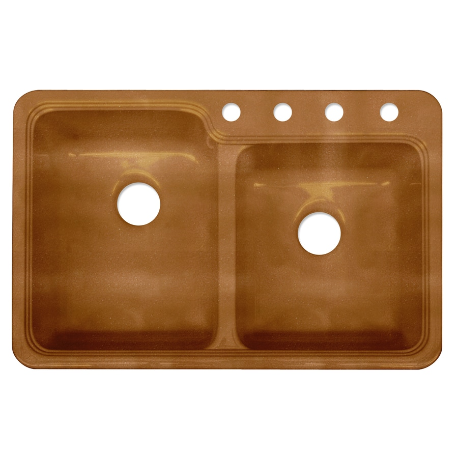 Shop corstone chepachet metallic copper double basin - Copper drop in kitchen sink ...