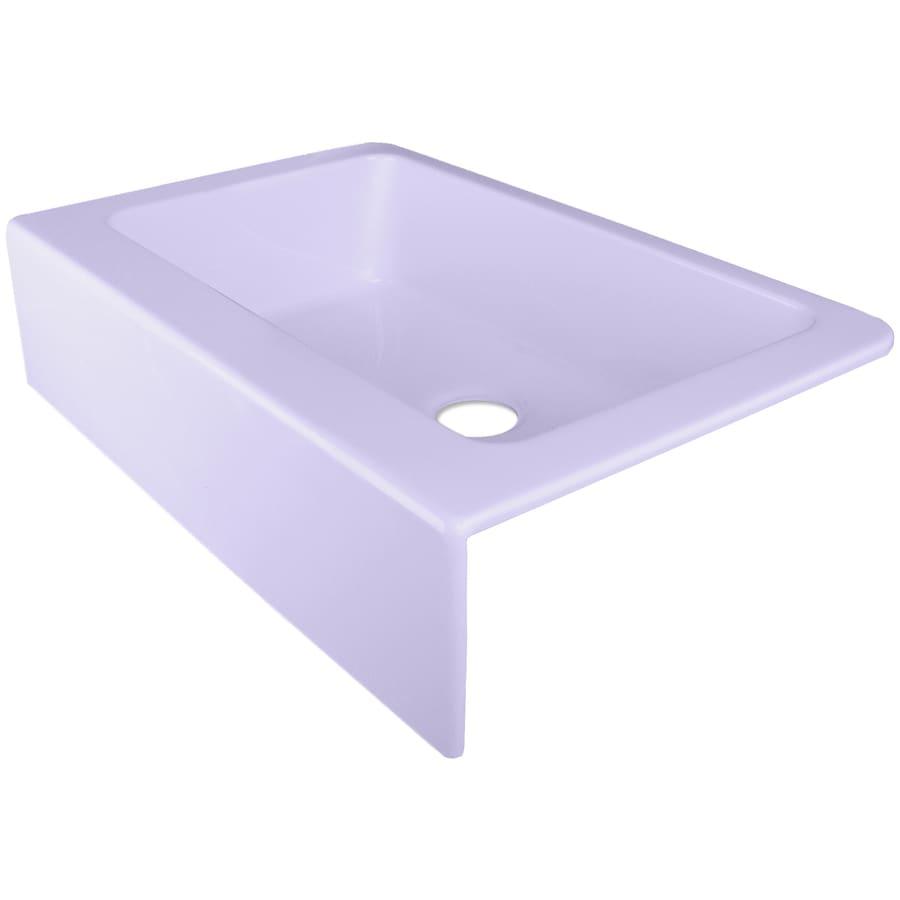 Corstone Skylight Blue Single Basin Acrylic A Front Farmhouse Kitchen Sink