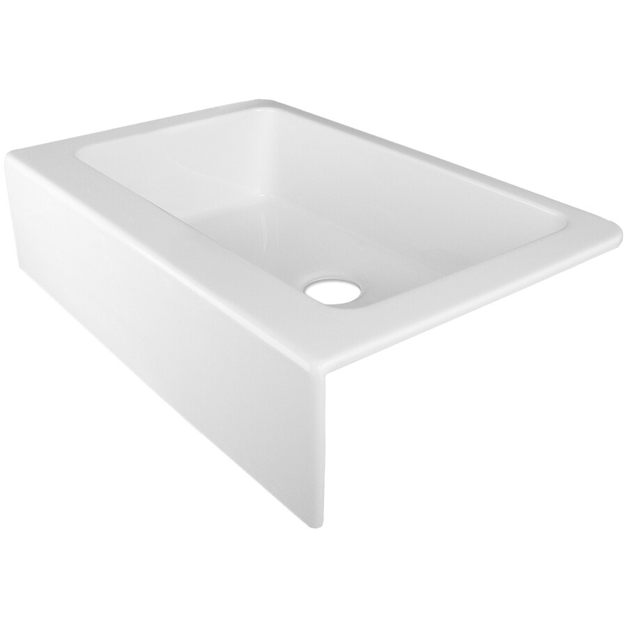 Corstone Primrose Gloss White Single Basin Acrylic Apron