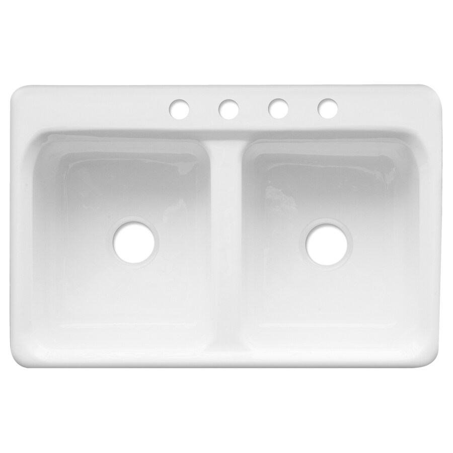 Superbe CorStone Wickford Double Basin Drop In Acrylic Kitchen Sink
