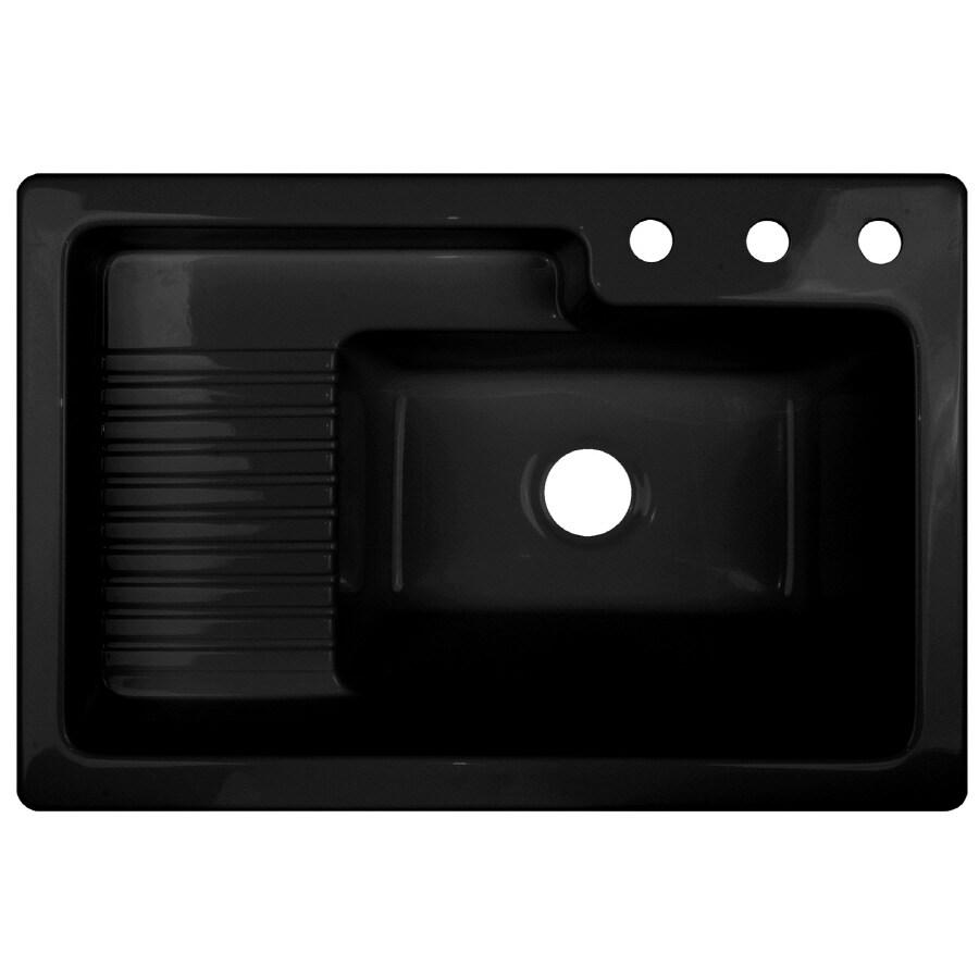 CorStone Black Acrylic Self Rimming Laundry Sink