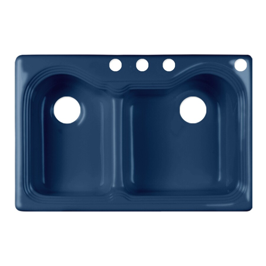 Corstone Double Basin Drop In Acrylic Kitchen Sink At