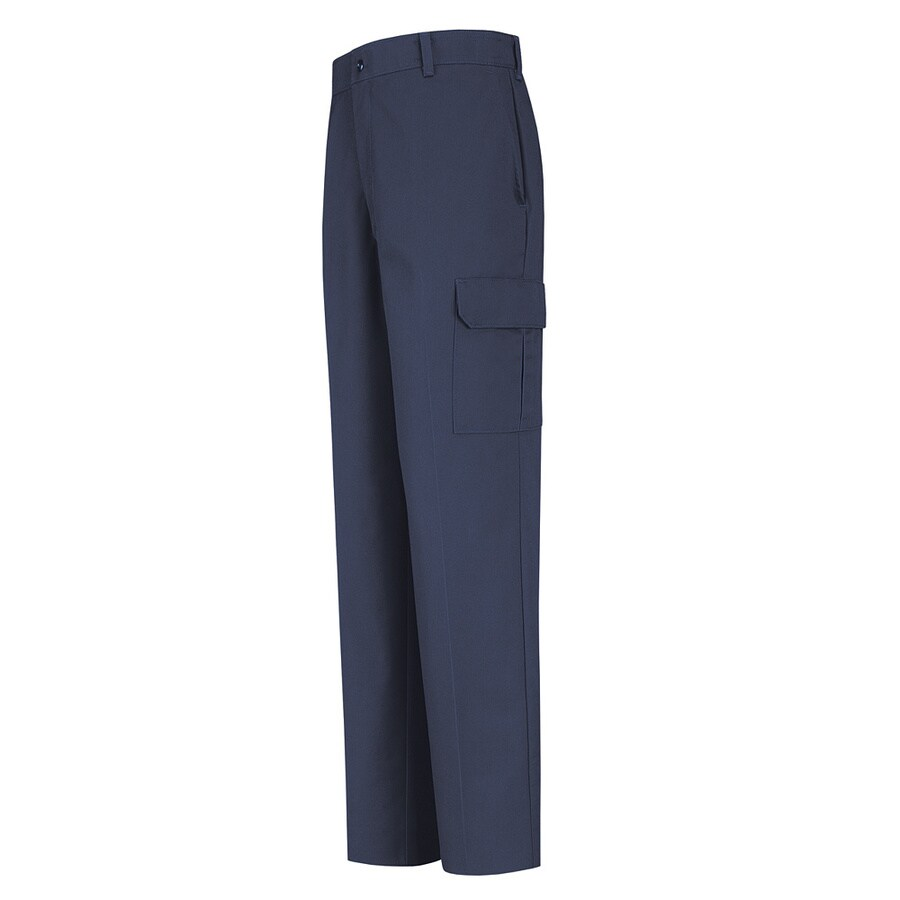 Red Kap Men's 42 x 32 Navy Twill Cargo Work Pants