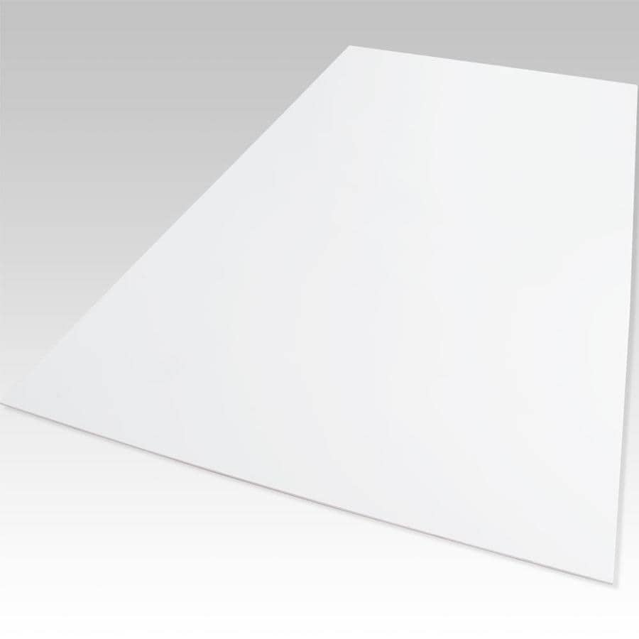 Palight ProjectPVC White Foam PVC Sheet (Common: 18-in x 24-in; Actual: 18-in x 24-in)