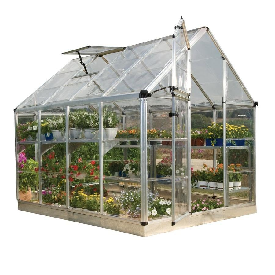 Palram 8-ft L x 6-ft W x 6.75-ft H Metal Polycarbonate Greenhouse