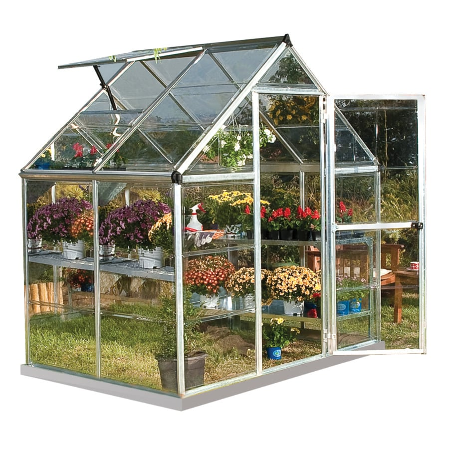 Palram 6-ft L x 4-ft W x 6.83-ft H Metal Polycarbonate Greenhouse