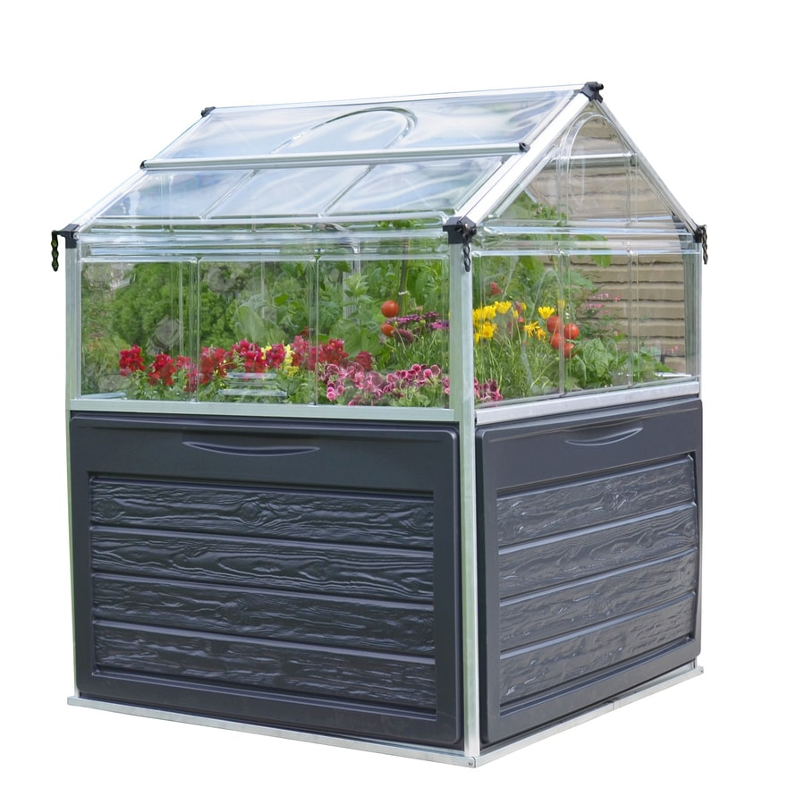 Palram 3.9-ft L x 3.9-ft W x 4.8-ft H Metal Polycarbonate Greenhouse