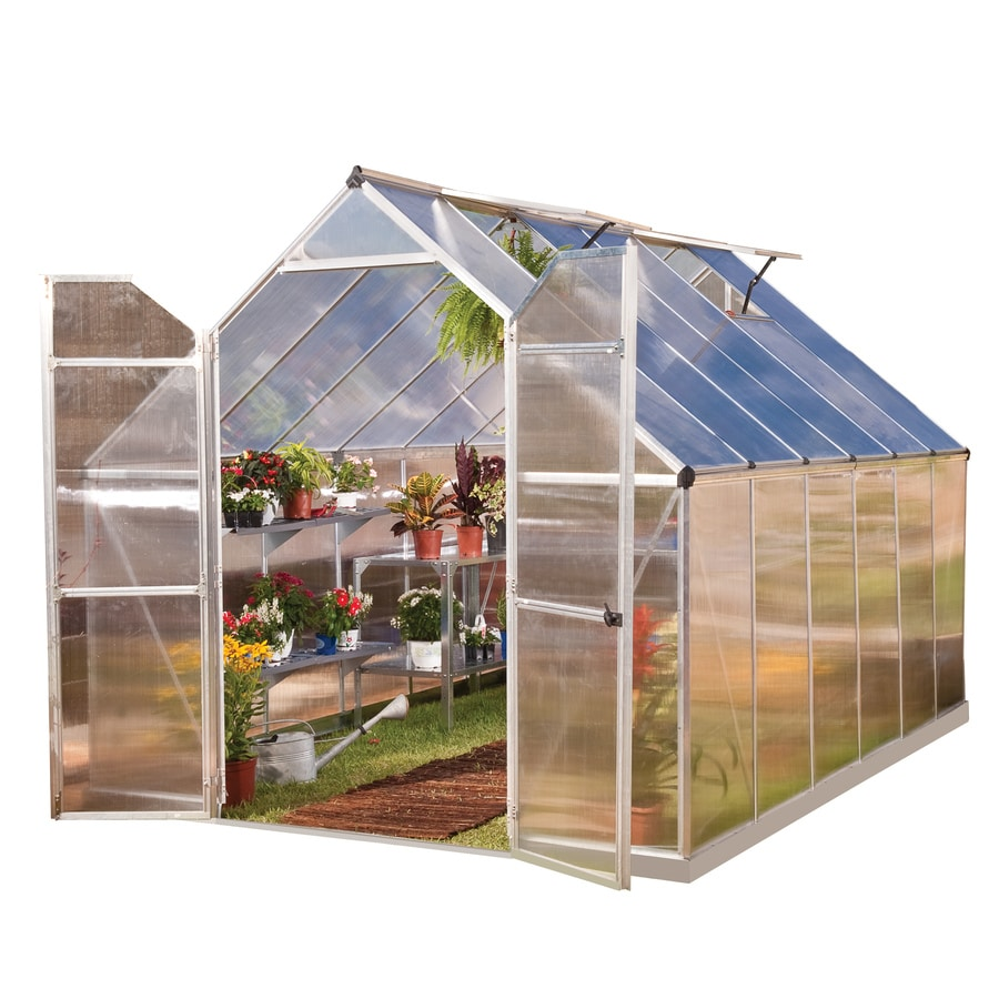 Palram 12-ft L x 7.95-ft W x 7.57-ft H Metal Polycarbonate Greenhouse