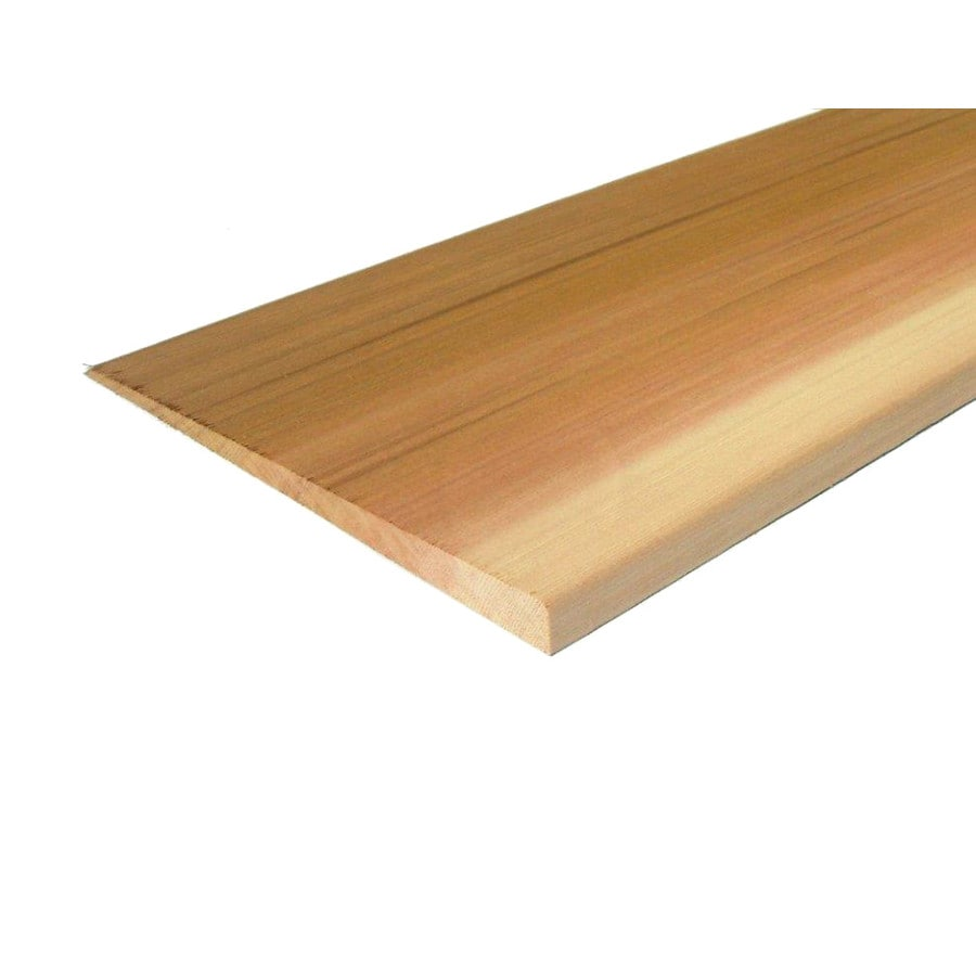 Shop natural cedar untreated wood siding panel common 1 for Natural wood siding