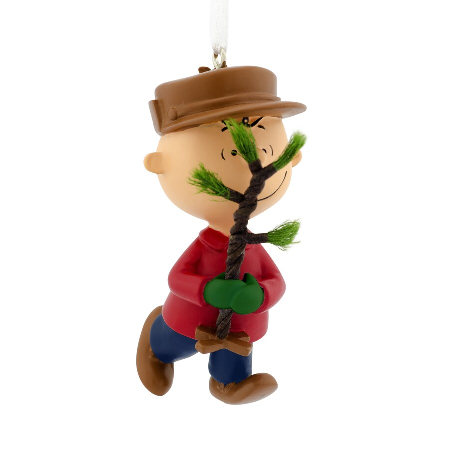 Hallmark Light Brown and Beige Charlie Brown Ornament