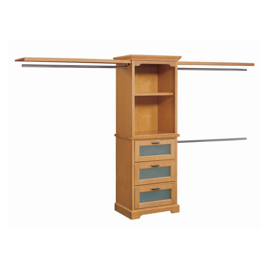 Incroyable Whalen Storage 10u0027 Maple Hardwood Closet Organizer