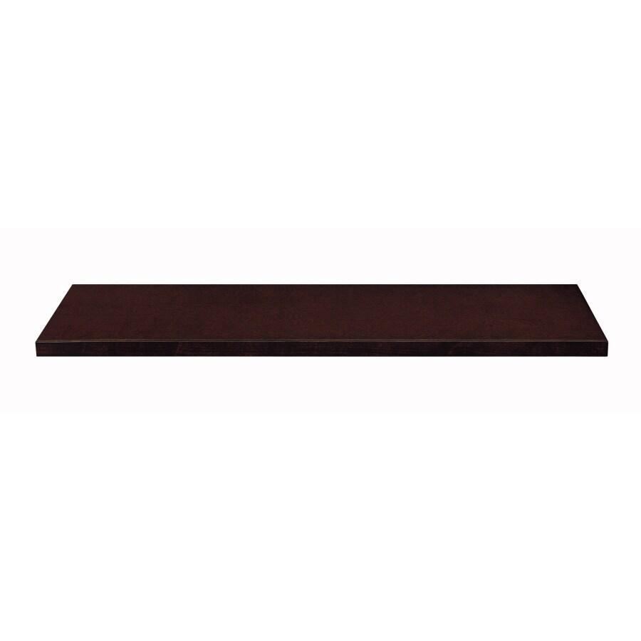 allen + roth 48-in x 14.6-in Cappuccino Wood Closet Shelf