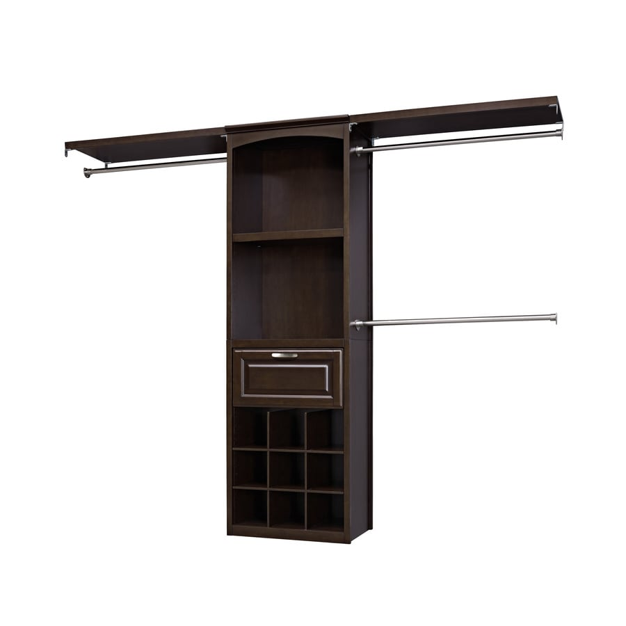 allen + roth 8-ft x 6.83-ft Java Wood Closet Kit