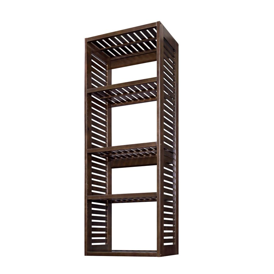 Lowes wire shelving systems for closets - Allen Roth 76 In Java Wood Closet Tower
