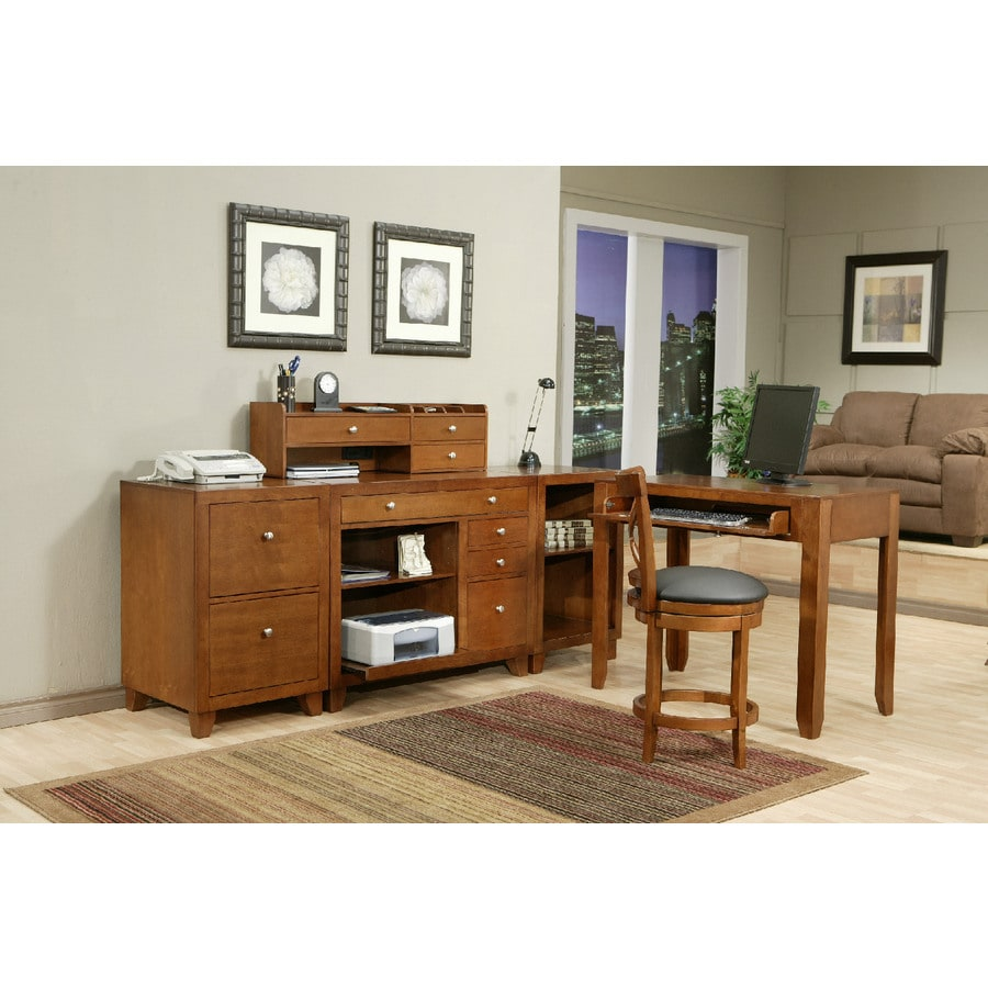 Whalen San Luis Honey Maple Executive Desk