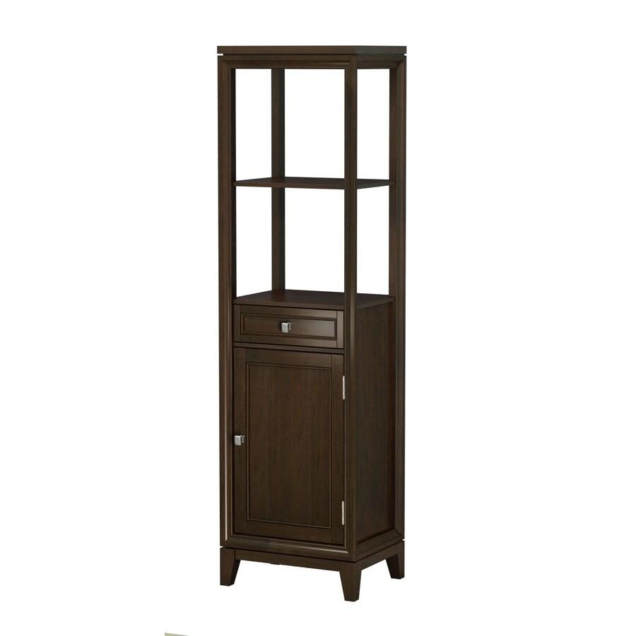 allen + roth Caterton 18.125-in W x 64.875-in H x 14-in D Java Poplar Linen Cabinet