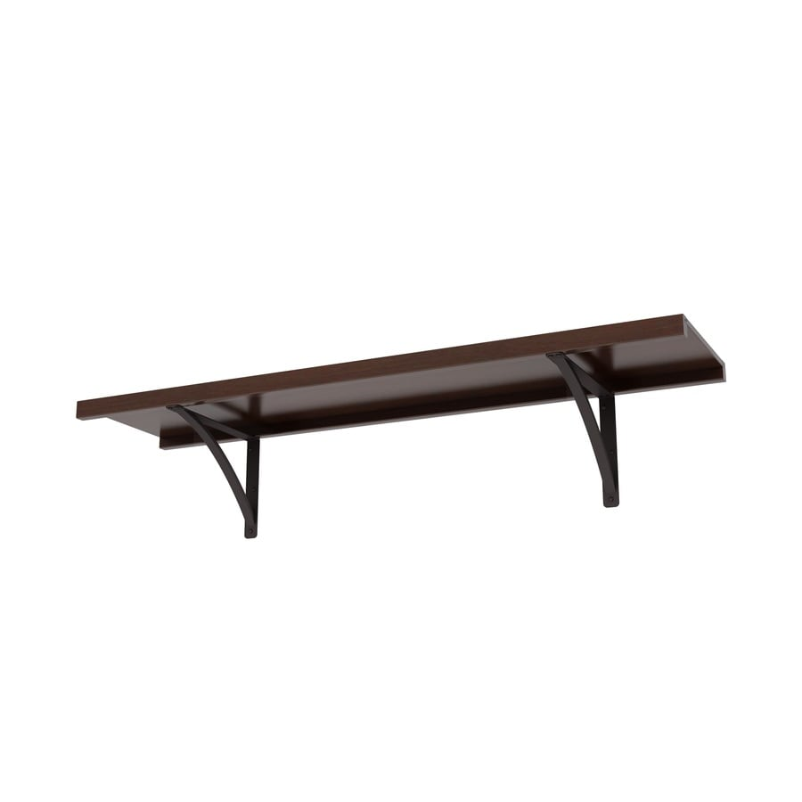 Shop Allen Roth 48 In W X 16 In D Java Wood Closet Shelf At Lowes Com