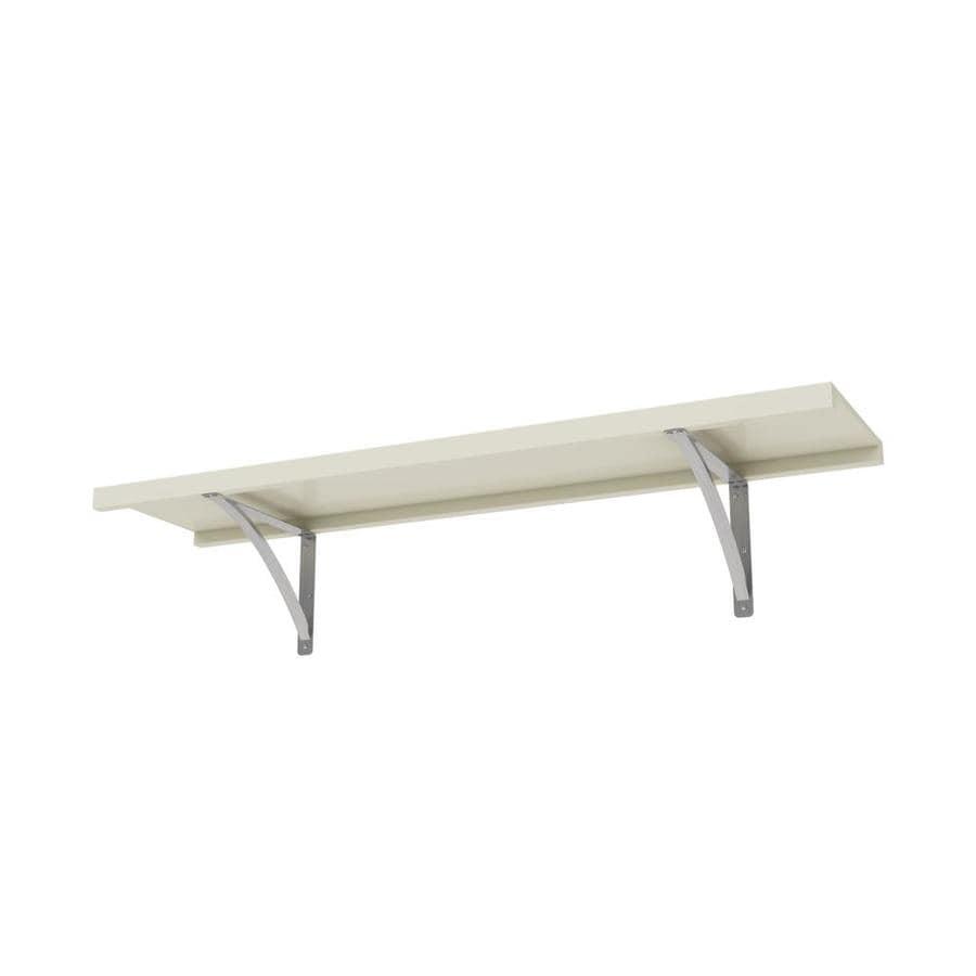 allen + roth 48-in W x 16-in D Antique White Wood Closet Shelf