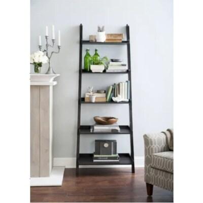 Java Wood 5 Shelf Ladder Bookcase