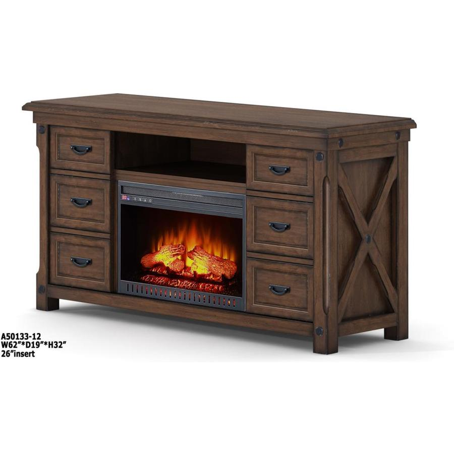 200-BTU Brown Wood Veneer Infrared Quartz Electric Fireplace Media Mantel with Thermostat and Remote Control at Lowes.com