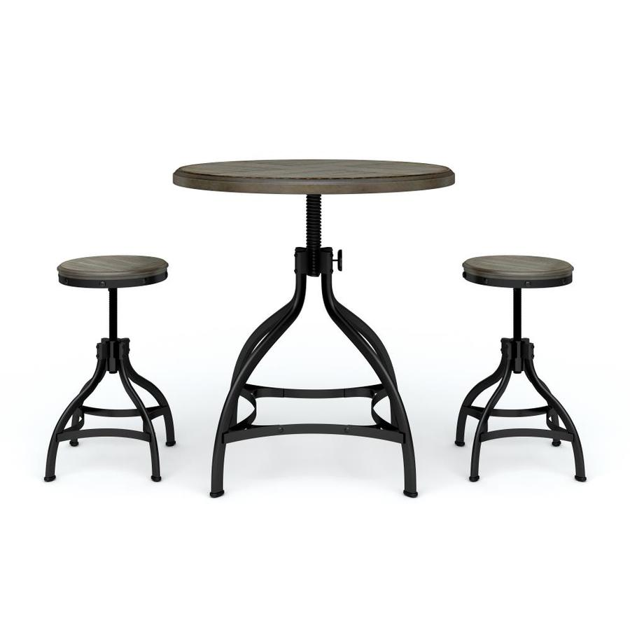 Whalen Brown 3-Piece Dining Set with Round Counter Height Table