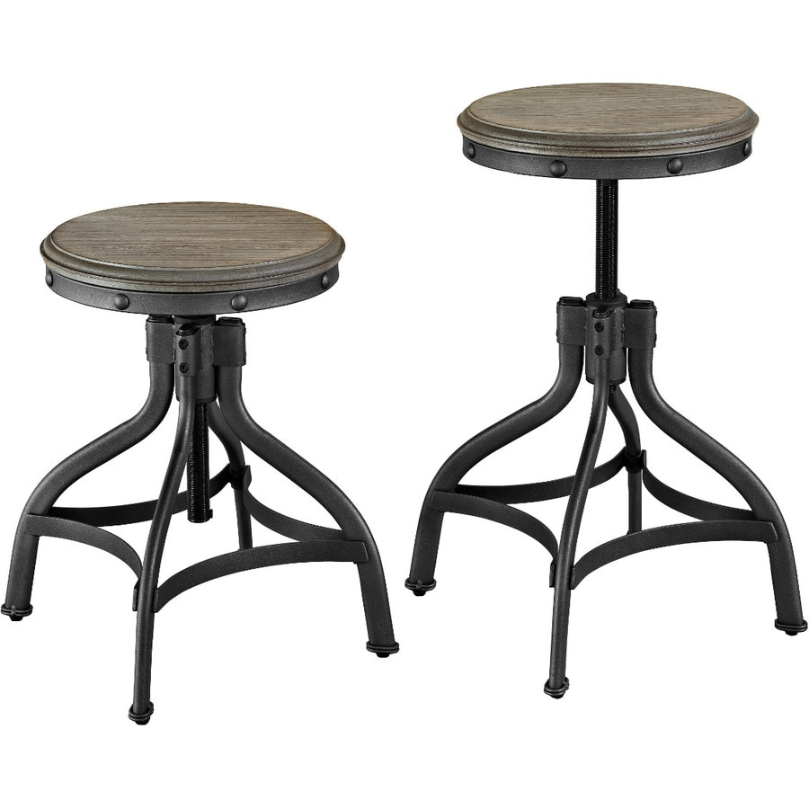 Whalen Industrial Brown Adjustable Stool