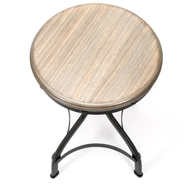 Shop Whalen Industrial Brown Adjustable Stool At Lowes Com