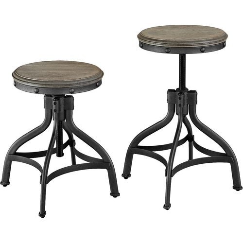Whalen Brown Adjustable Stool At Lowes Com